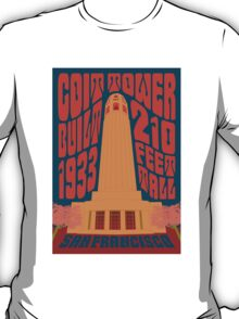1960's Psychedelic San Francisco Coit Tower T-Shirt