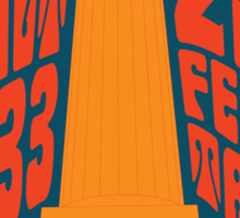 1960's Psychedelic San Francisco Coit Tower Sticker