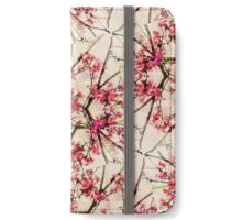 Red Deco Geometric Nature Collage Floral Motif iPhone Wallet/Case/Skin