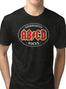 Vintage Kindergarten Rocks - dark Tri-blend T-Shirt