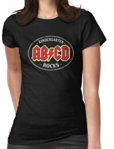Vintage Kindergarten Rocks - dark Womens Fitted T-Shirt