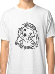 sitzend rund kind baby nachwuchs süßer kleiner niedlicher igel  Classic T-Shirt