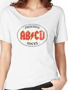 Vintage Preschool Rocks - light Women's Relaxed Fit T-Shirt