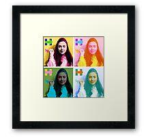 Hippie Hillary Framed Print