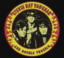 Stevie Ray Vaughan & Double Trouble Colour One Piece - Short Sleeve