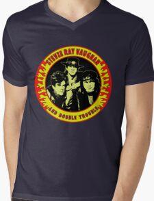 Stevie Ray Vaughan & Double Trouble Colour Mens V-Neck T-Shirt