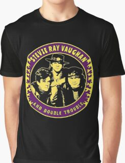 Stevie Ray Vaughan & Double Trouble Colour 2 Graphic T-Shirt