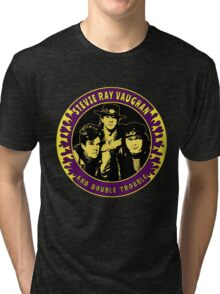 Stevie Ray Vaughan & Double Trouble Colour 2 Tri-blend T-Shirt