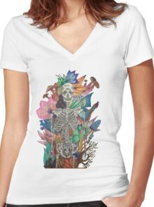 The Story of my bones  Women's Fitted V-Neck T-Shirt