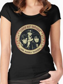 Stevie Ray Vaughan & Double Trouble Vintage Women's Fitted Scoop T-Shirt
