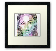 Beyonce (with 'Sandcastles' lyrics) Framed Print