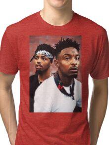 21Savage & Metro Boomin Tri-blend T-Shirt