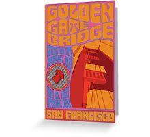 1960's Psychedelic San Francisco Golden Gate Bridge Greeting Card