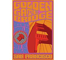 1960's Psychedelic San Francisco Golden Gate Bridge Photographic Print
