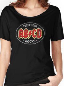 Vintage Preschool Rocks - dark Women's Relaxed Fit T-Shirt