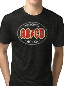 Vintage Preschool Rocks - dark Tri-blend T-Shirt