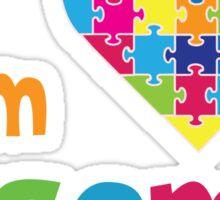 I am Ausome - Awesome Autism Awareness T shirt Kids - Adult Sizes  Sticker