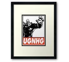 Nemesis UGNHG Obey Design Framed Print