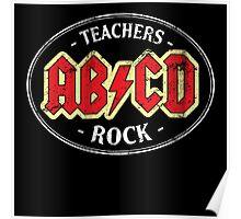 Vintage Teachers Rock - dark Poster