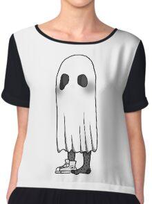 Sock Sheet Ghost Design Chiffon Top