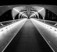 Light Tunnel in B&W by MichaelJP