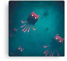 Sea Monsters - Into the Monsters Forest Canvas Print