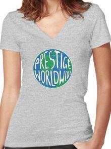 Vintage Prestige Worldwide Women's Fitted V-Neck T-Shirt