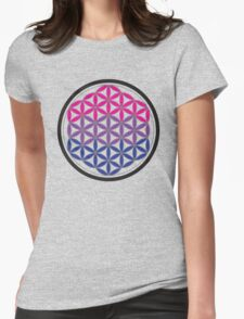 bisexual sacred geometry Womens Fitted T-Shirt