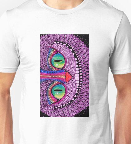 Alice In Wonderland Cat Purple  Unisex T-Shirt