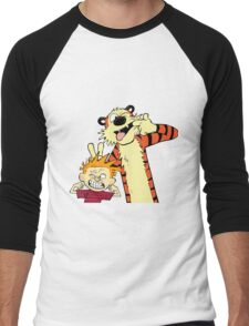 calvin and hobbes 2 Men's Baseball ¾ T-Shirt