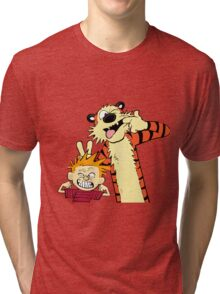 calvin and hobbes 2 Tri-blend T-Shirt