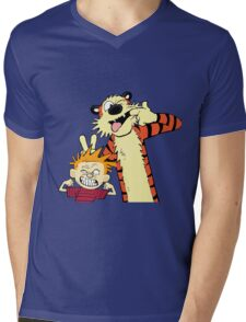 calvin and hobbes 2 Mens V-Neck T-Shirt