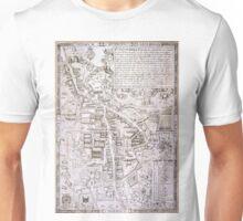 Vintage Map of Cambridge England (1574) Unisex T-Shirt