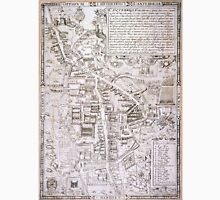 Vintage Map of Cambridge England (1574) Unisex T-Shirt