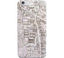 Vintage Map of Cambridge England (1574) iPhone Case/Skin