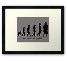 The evolution of man/ To Jamie Fraser Framed Print