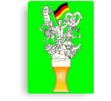 German Weizen Beer Foam Canvas Print