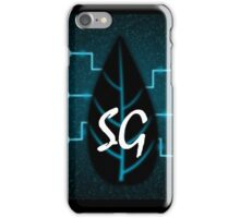 Blue Computerized Glowing Leaf iPhone Case/Skin