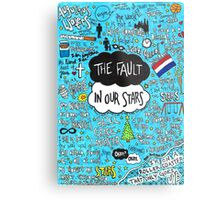 The Fault in Our Stars Collage Metal Print