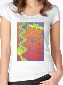 1960's Psychedelic San Francisco Crookedest Street Women's Fitted Scoop T-Shirt
