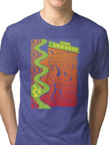 1960's Psychedelic San Francisco Crookedest Street Tri-blend T-Shirt