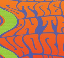 1960's Psychedelic San Francisco Crookedest Street Sticker