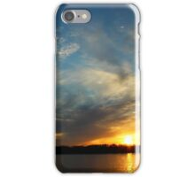 Sunset over the Mississippi iPhone Case/Skin