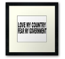 love my country Framed Print