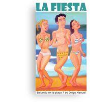 Bailando en la playa 7, 2014 by Diego Manuel Canvas Print