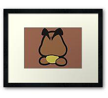 Goomba minimalist Framed Print