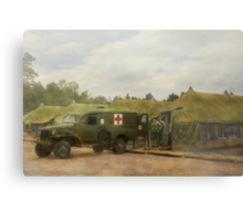 Doctor - 1942 - Camp Sibert - Transferring the patient Metal Print