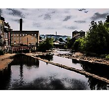 The Calder Through Sowerby Bridge Oil Painting Effect Photographic Print