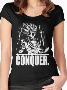 CONQUER (Teen Gohan) Women's Fitted Scoop T-Shirt