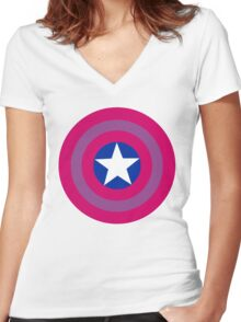 Bi Cap Women's Fitted V-Neck T-Shirt